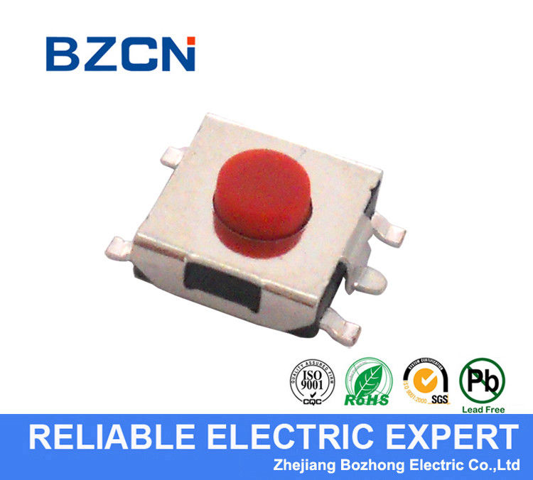 Long Life Miniature Tactile Switch , 5 Pin Micro Tactile Switch DIP Terminal Type