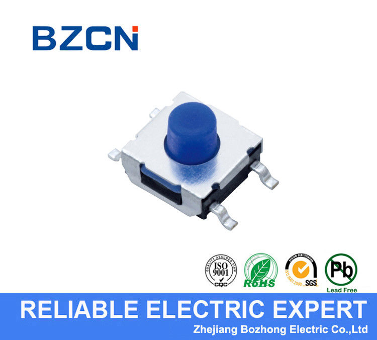 Surface Mount 4 Pin Momentary Switch Blue Soft Push Button Tactile Switch