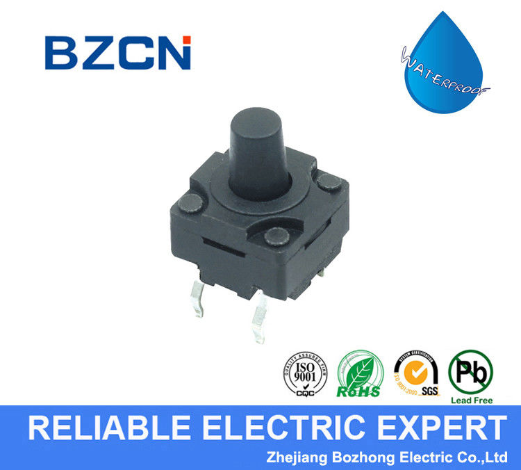 Momentary Waterproof Tactile Switch , Normally Open Push Button Switch