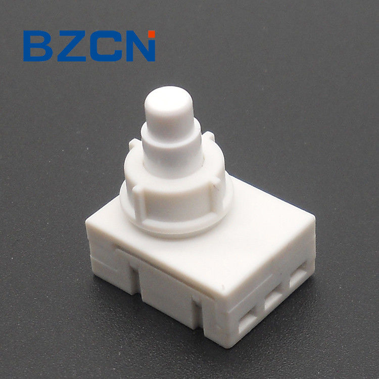 White Momentary Push Button Switch 3 Female Hole Terminal Vertical Type Operation