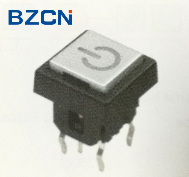 5 Pin White Illuminated Tactile Switch 6X6mm Size With Power Mark Switch